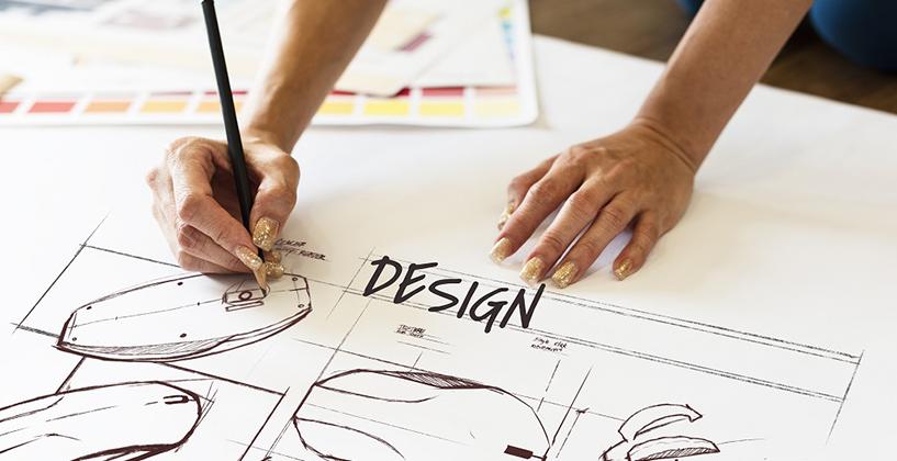 デザイン設計の図面