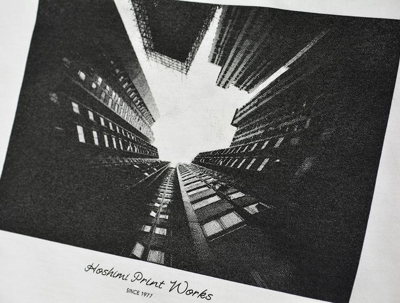 ブラック1色で細かな網点印刷